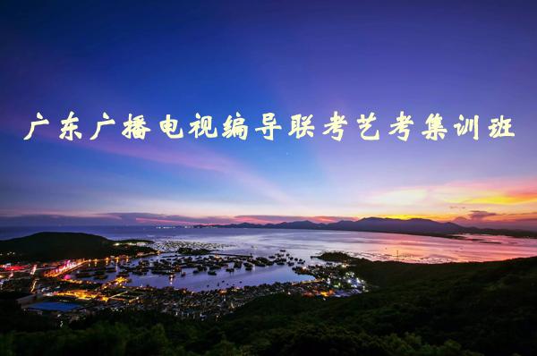 广东广播电视编导联考艺考集训班