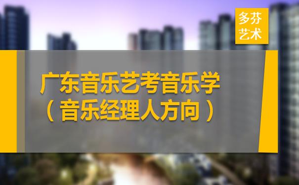 广东音乐艺考音乐学(音乐经理人方向)