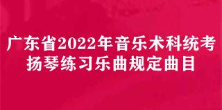广东省2022年音乐术科统考古筝规定